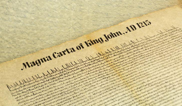 Magna Carta funda Estado de Direito