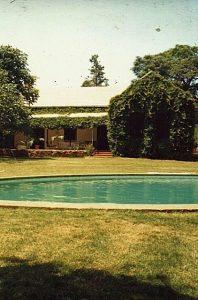 Bangalô onde Peter Fry morou, em Harare, 1992