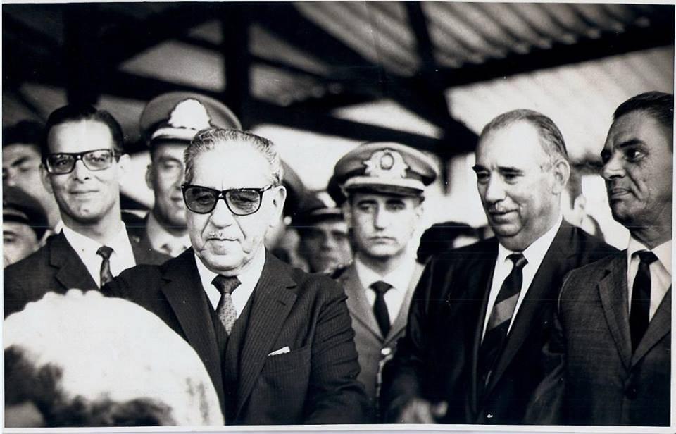 O general-presidente Costa e Silva em visita ao Paraná, em 1967