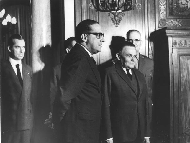 Castelo Branco, com Carlos Lacerda (à esquerda), no Palácio Guanabara, julho de 1964