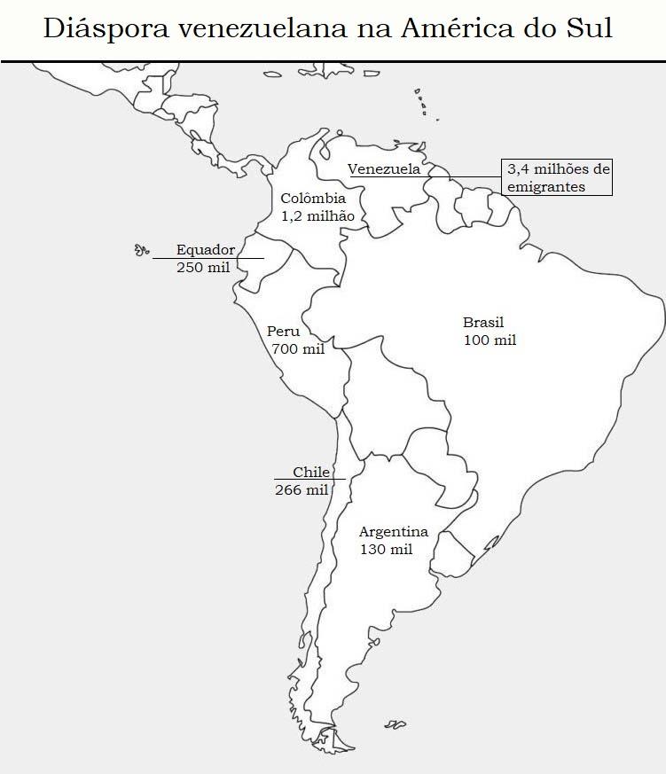 Diáspora venezuelana na américa do sul