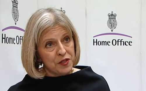 Theresa May, futura primeira-ministra, nos seus tempos de Home Office