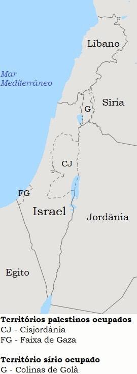 Mapa Israel/Palestina